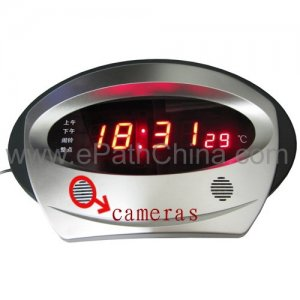 2.4Ghz Wireless Hidden Spy Camera Table LED Clock